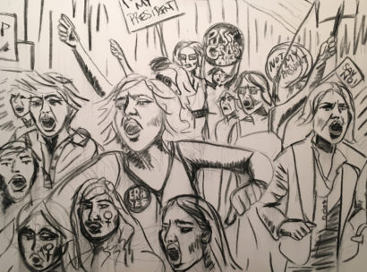 INDIRA-CESARINE-22PROTEST22-Charcoal-on-Canvas-THE-UNTITLED-SPACE-UPRISE-ANGRY-WOMEN-EXHIBIT.jpg