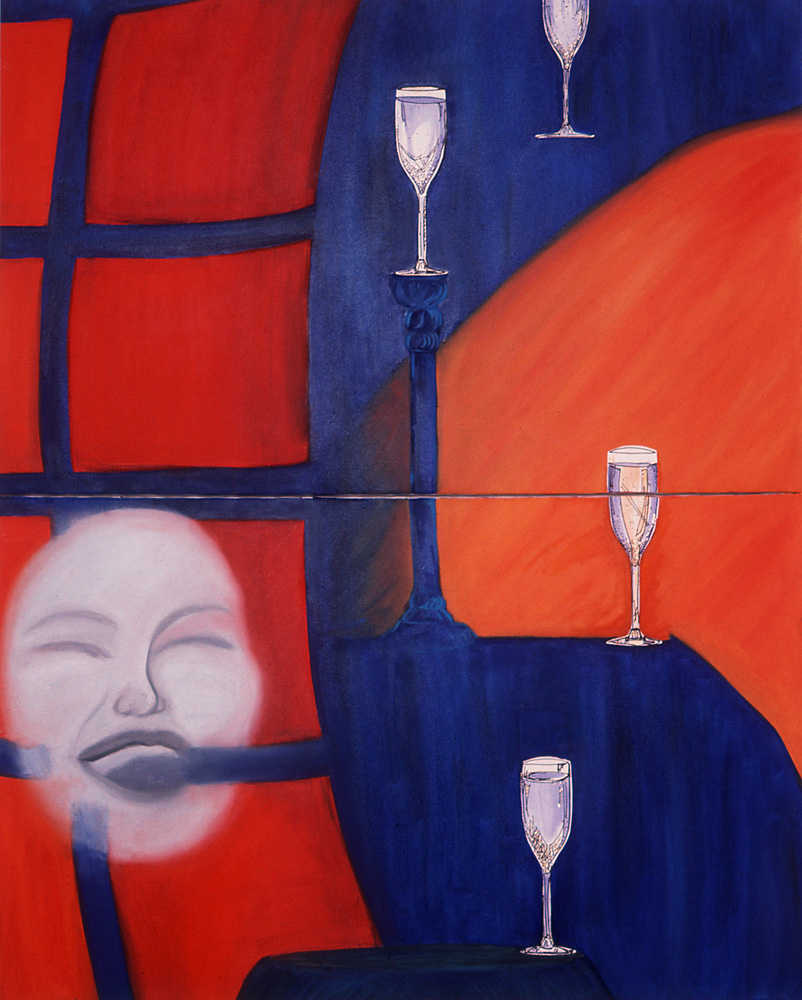 Indira-Cesarine-Cocktail-Hour-Diptych-Oil-On-Canvas-on-2-Panels-with-Watercolor-on-Paper-elements-1986-LR2-1.jpg