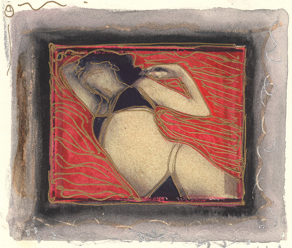 Indira-Cesarine-Girl-on-The-Beach-Mixed-Media-Polaroid-Transfer-on-Rag-Paper-with-Watercolors-and-Metalic-Pen-1993-lr.jpg