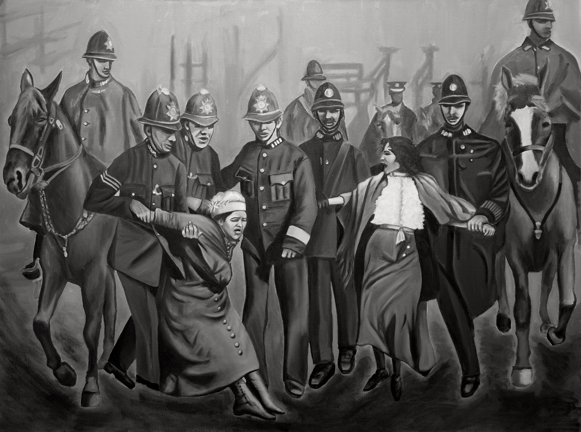 Indira-Cesarine-22Arrested-for-Equality-An-Ode-to-The-Suffragettes22-2017-Oil-on-Canvas-The-Untitled-Space-SHE-INSPIRES-Exhibit-May-2017-V2-1.jpg