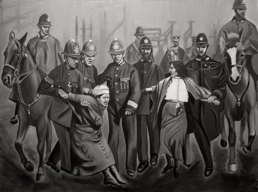 Indira-Cesarine-22Arrested-for-Equality-An-Ode-to-The-Suffragettes22-2017-Oil-on-Canvas-The-Untitled-Space-SHE-INSPIRES-Exhibit-May-2017-V2.jpg