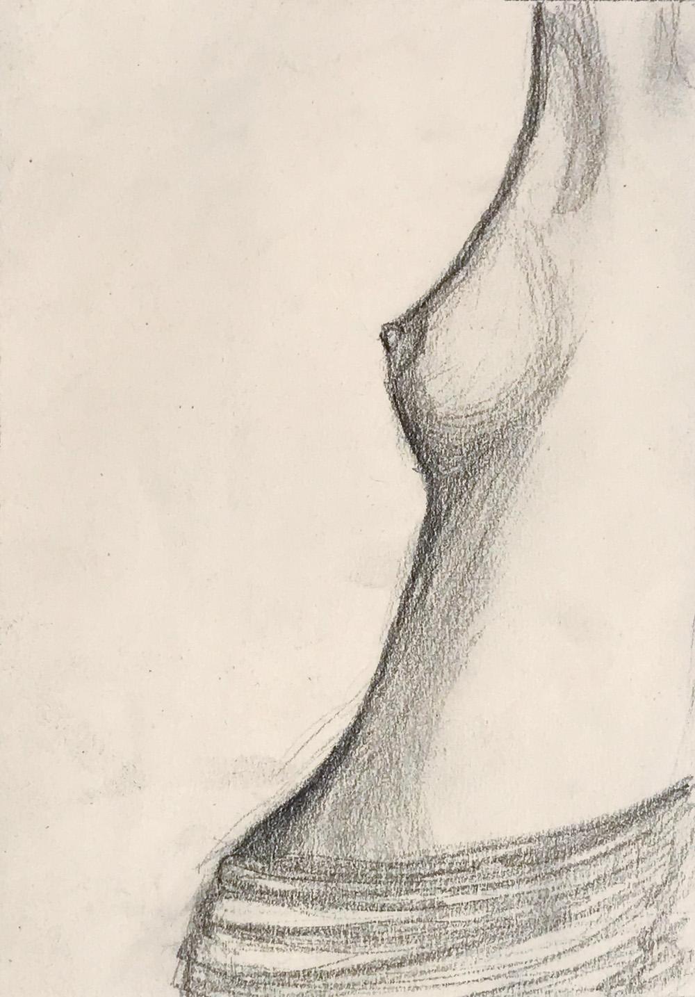 Indira-Cesarine-Silhouette-Graphite-on-paper-1987.jpg