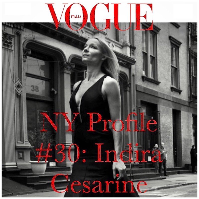 Indira Cesarine interview by ITALIAN VOGUE
