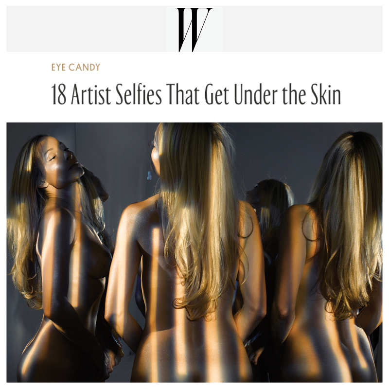 W MAGAZINE feature of artwork, exhibition by Indira Cesarine