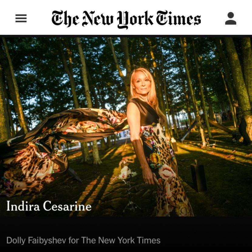 Indira Cesarine featured in New York Times