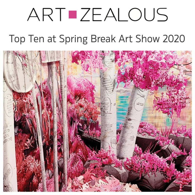 Art Zealous - Jessica Lichtenstein Top 10 at Springbreak Art Show 2020 Curated by Indira Cesarine for The Untitled Space