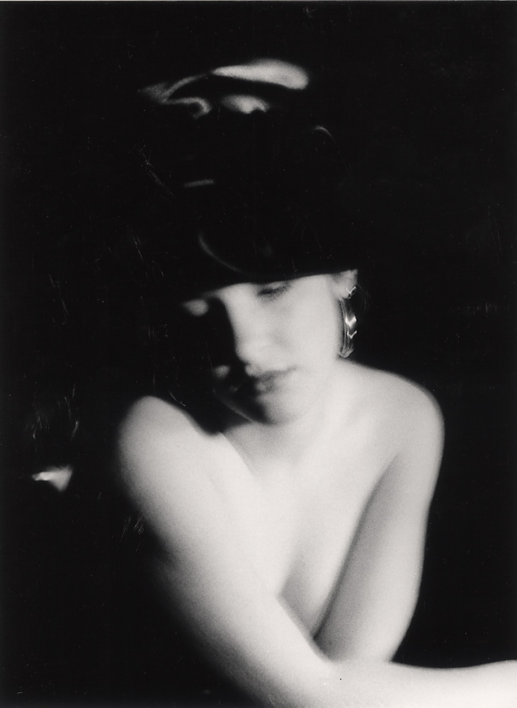 Indira-Cesarine-Arianne-in-Hat-Photographic-BW-Print-Hand-Printed-and-Mounted-1988.jpg