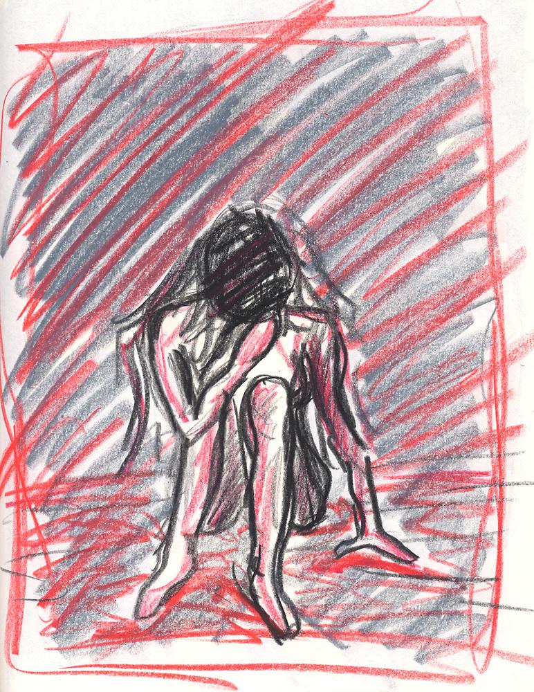 Indira-Cesarine-Sitting-Oil-Artist-Crayon-on-Paper-1988-lr.jpg