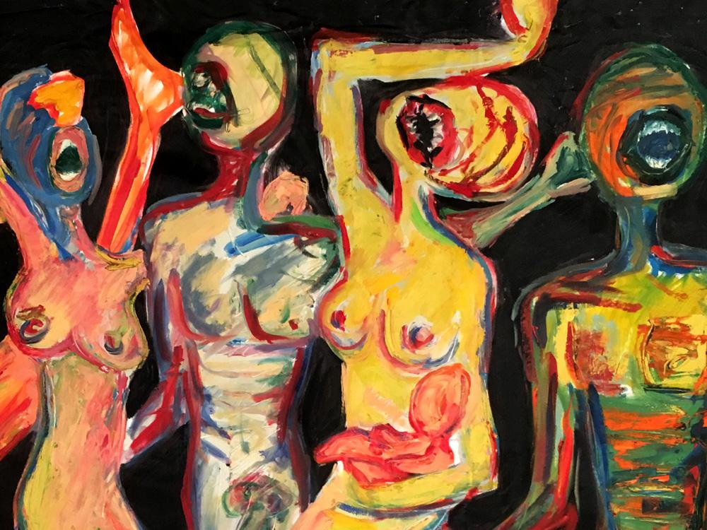 Indira-Cesarine-Wild-Bunch-Oil-on-Canvas-50-x-70in-1990-detail.jpg