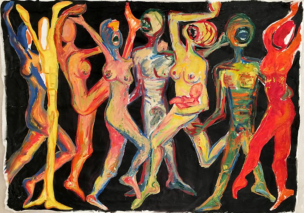 Indira-Cesarine-Wild-Bunch-Oil-on-Canvas-50-x-70in-1990.jpg