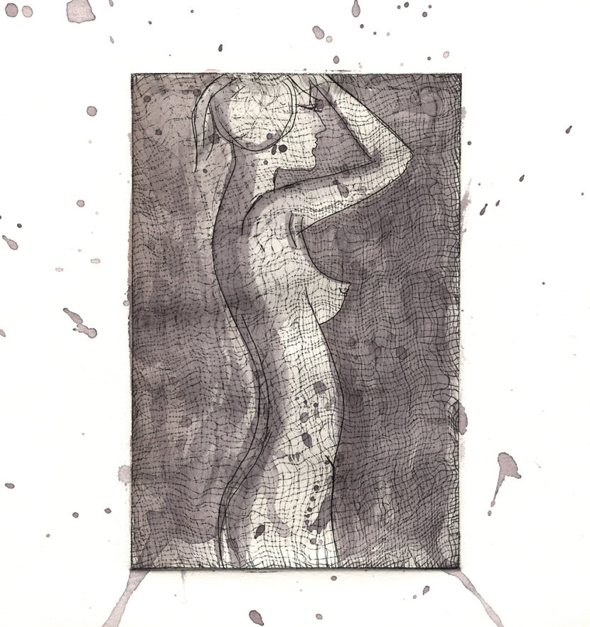 Indira-Cesarine-Girl-In-Silhouette-BW-2017-Intaglio-on-Cotton-Paper-with-Watercolor-LR.jpg