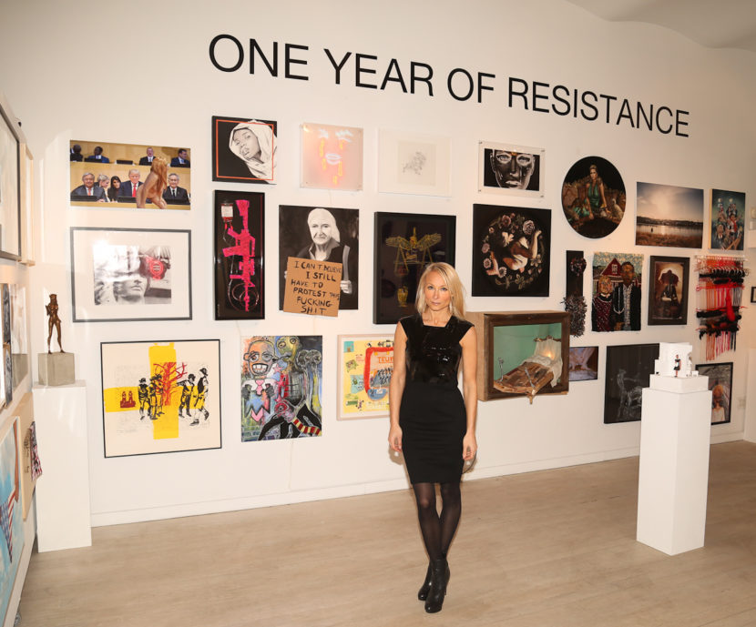 Curator-Indira-Cesarine-at-ONE-YEAR-OF-RESISTANCE-Exhibit-The-Untitled-Space_-2.jpg