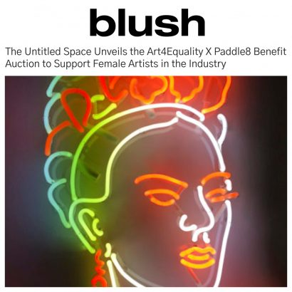 BLUSH MAGAZINE - Art4Equality X Paddle8 Benefit Auction to Support Female Artists in the Industry - INDIRA CESARINE