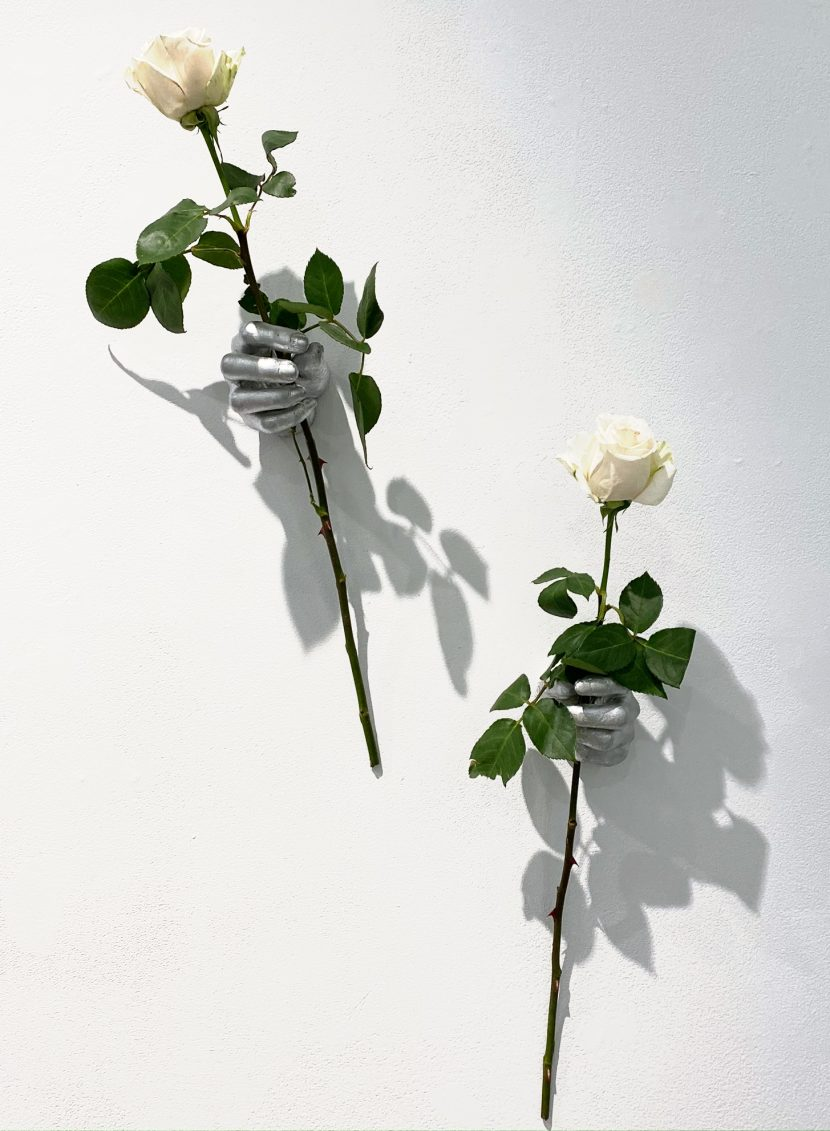 Indira-Cesarine-The-Labyrinth-Les-Mains-dArgents-Hand-Sculptures-in-Resin-with-Real-or-Fabric-Flowers.jpg